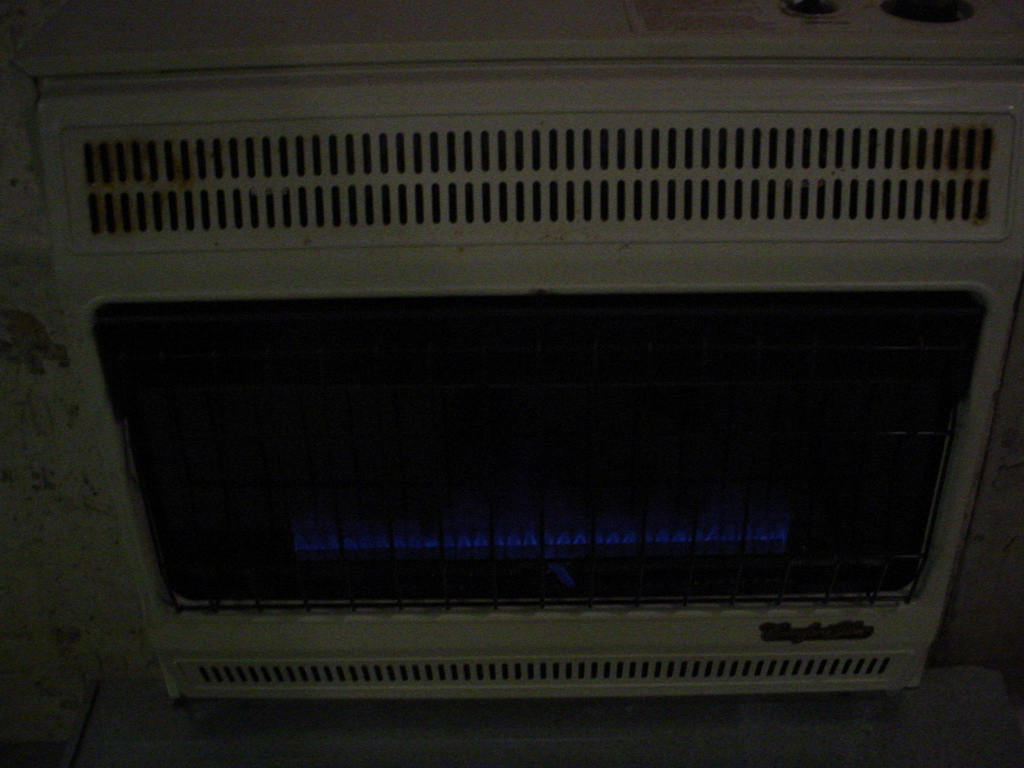 Natural Gas Wall Heater Top Comfort Glow Ventfree Blue